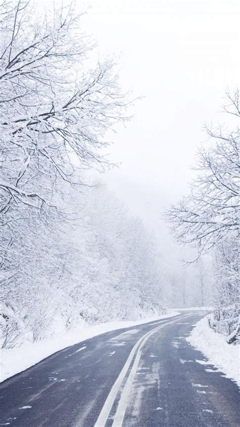 wallpaper iphone 6 winter cold winter road iphone 6 plus wallpapers hd