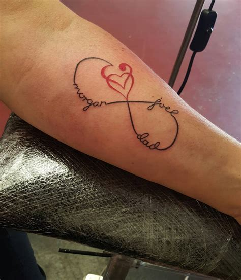 heart name tattoos and infinity meaning images for tatouage