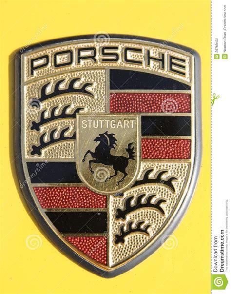 Porsche Zeichen by Porsche Zeichen Redaktionelles Foto Bild 26769431