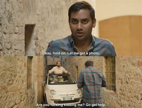aziz ansari neck tattoo youtube the hilarious stuck car scene from master of none really