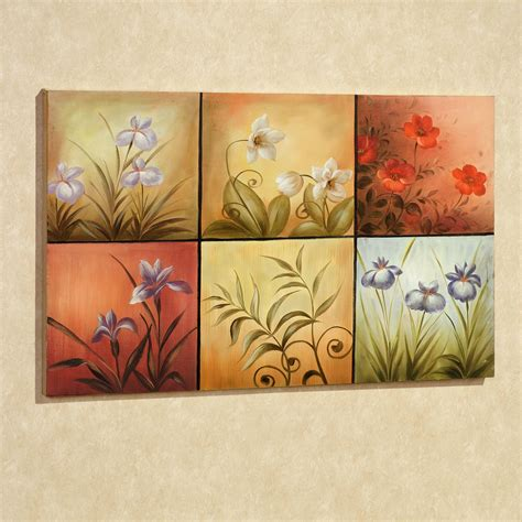 wall paintings floral mystery handpainted canvas wall art