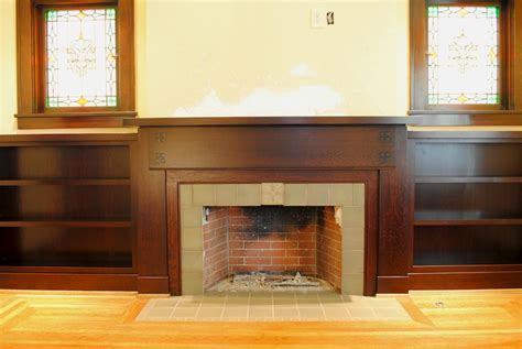 Craftsman Style Mantel & Bookcases   THISisCarpentry