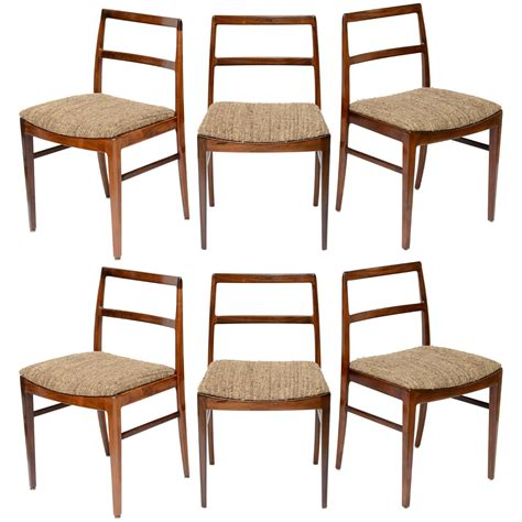 rosewood dining room furniture set of 6 danish rosewood dining chairs at 1stdibs