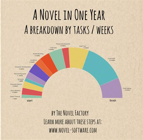 the one year novelist a week by week guide to writing your novel in one year writing as a second career books a novel in one year infographic