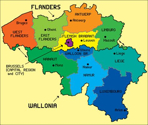 geographical map of belgium geography of belgium