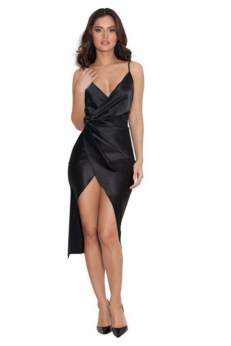 celeb boutique clothing uk clothing bodycon dresses coco black satin drape back