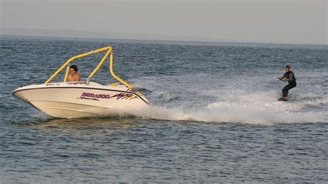 yellow sea doo boat sea doo towers joystick wakeboard towers
