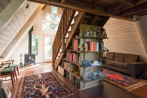 A Frame Home Interiors Retreat In A Frame Tiny Cabin You Ll It Small House Decor