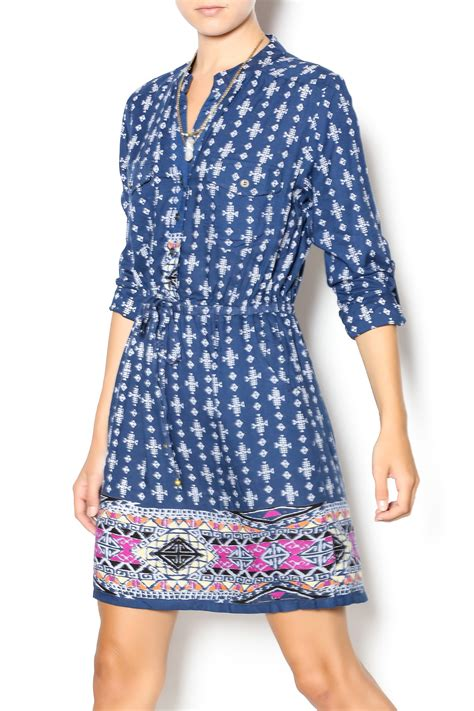 angie tribal print dress from philadelphia by el quetzal