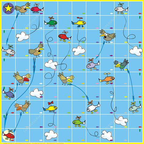 board template board with birds and planes free printable