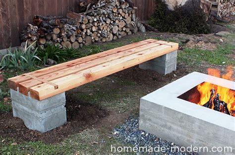 Patio Bench Diy Homemade Modern Ep57 Outdoor Concrete Bench