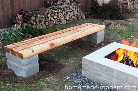 homemade wood bench homemade modern ep57 outdoor concrete bench