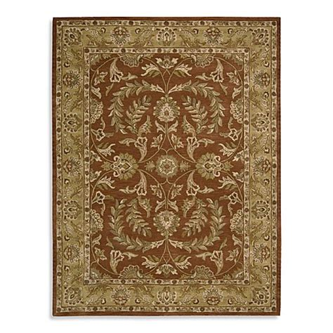 rust colored bath rugs nourison india house tufted area rug in rust bed bath beyond