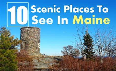 best place in maine 10 best scenic places to see in maine travel me guide