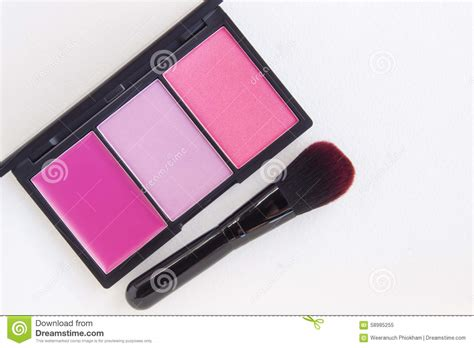 Toner Make Up makeup pink tone blusher palette stock photo image