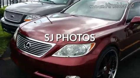 burgundy lexus with black rims lexus ls 460 on 24 inch asanti af162 staggered rims done