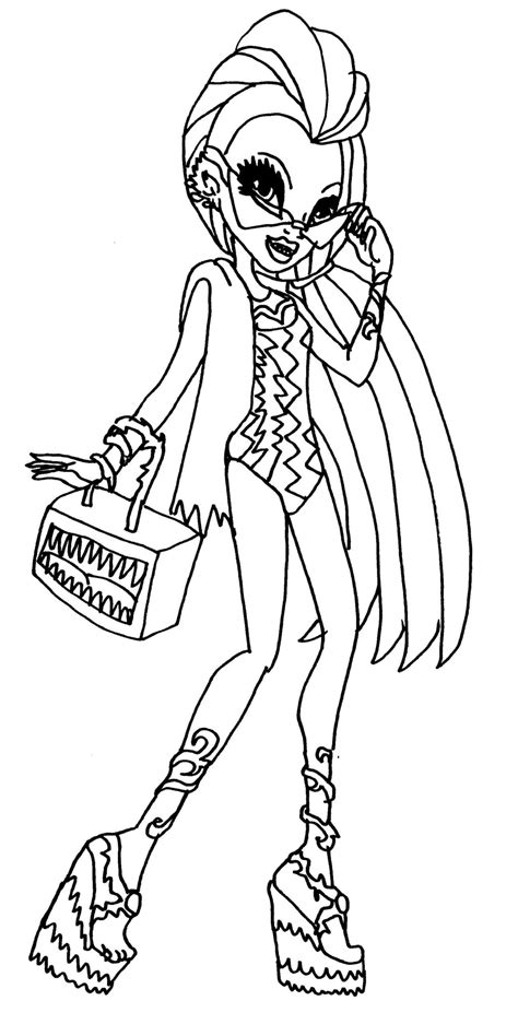 monster high hybrids coloring pages pin dibujos para colorear de monster high lagoona y