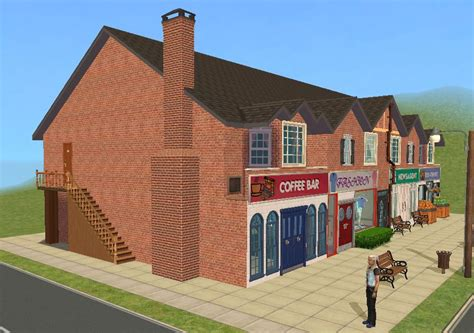 Small House Build mod the sims british style high street