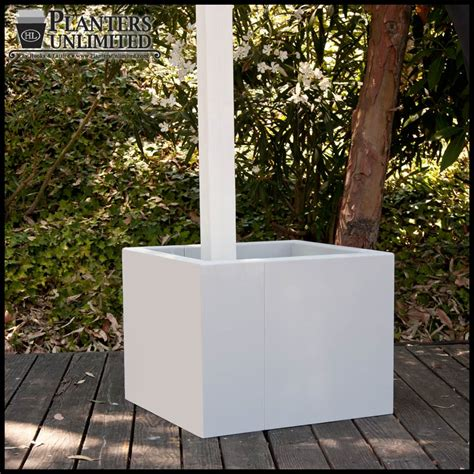 Post Planters by Custom Post Planters L Post Planter