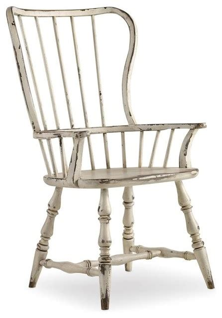 Hooker Furniture Sanctuary Chalky White Spindle Back Chair Spindle Back Dining Chairs