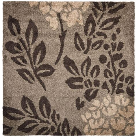 4 foot square rug safavieh florida shag smoke brown 4 ft x 4 ft square area rug sg456 7928 4sq the home depot