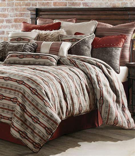 leather comforter hiend accents silverado southwestern chenille faux
