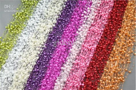 Roll Meter 75m Blitz Oranye 75m colorful pearl beaded garland spool wedding centerpiece decoration from gtderui 0 23