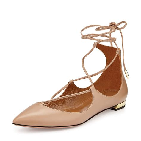 high flat shoes classic ballet pointy toe lace up ankle high strappy
