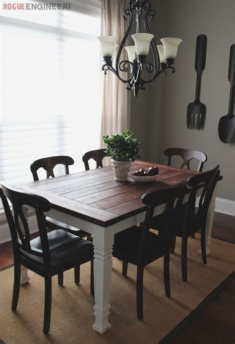Black Dining Room Table Diy Diy Farmhouse Table Black Chairs Farmhouse Dining Tables And Dining Rooms