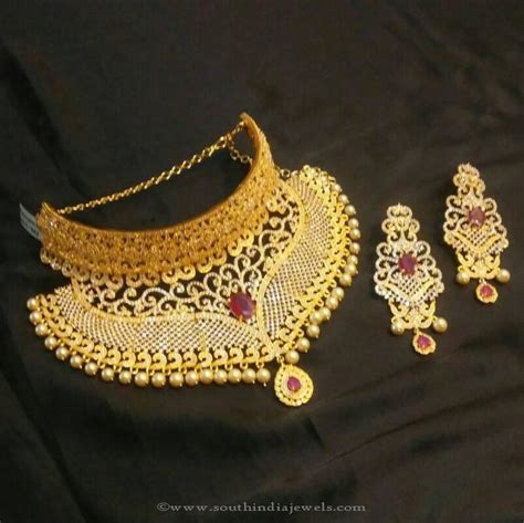 indian gold choker necklace designs styles  life