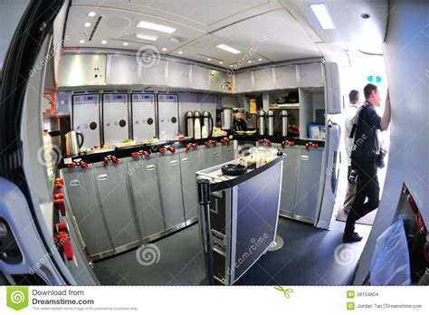 Kitchen Cabinet Liner by Rear Galley Of A Boeing 787 Dreamliner At Singapore
