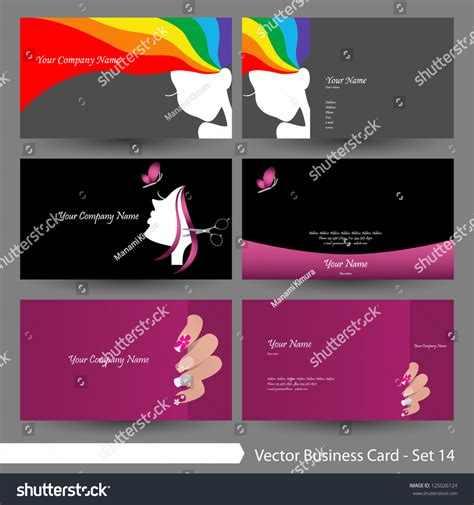 Free Cosmetologist Business Card Templates by Vector Business Card Template Set Stock Vector