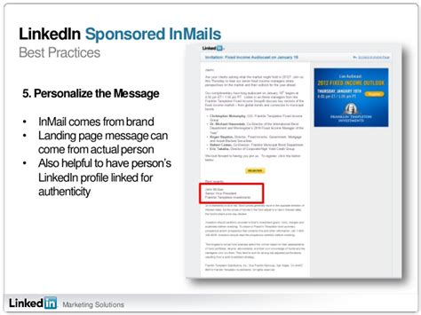 sponsored inmail best practices