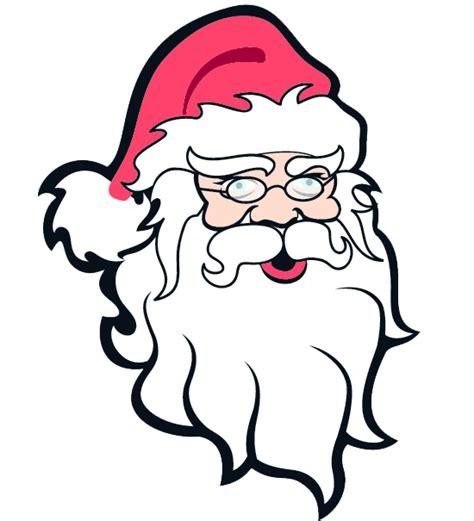printable santa head free santa claus head clip art