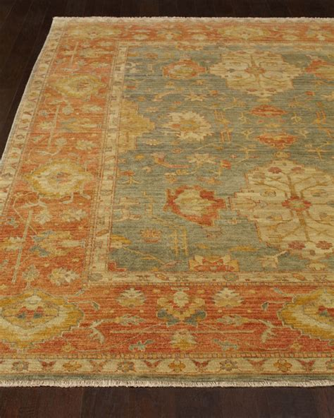 horchow rugs makam oushak rug 9 x 12 light blue rust contemporary rugs by horchow