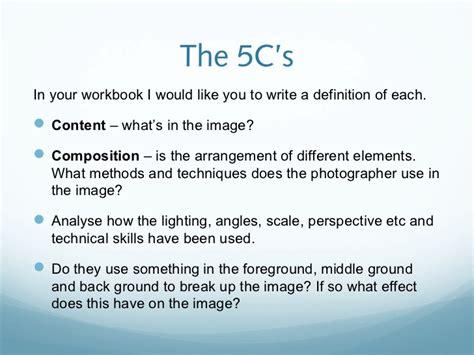 analyse photography work