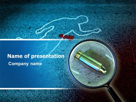 Crime Scene Investigation Presentation Template For Powerpoint And Keynote Ppt Star Murder Powerpoint Template