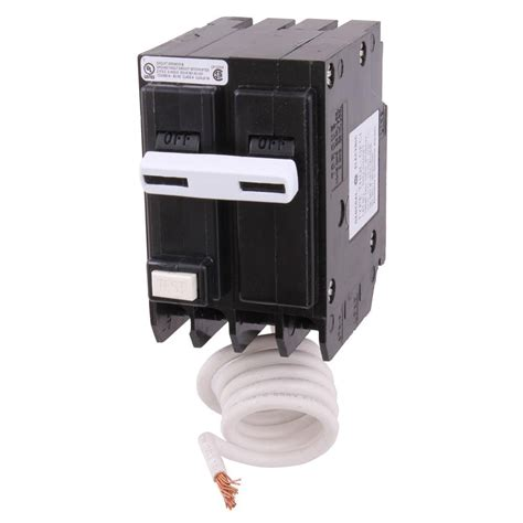 ge lighting customer service ge 20 amp double pole ground fault breaker with self test