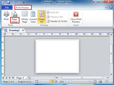 visio page setup where is page setup in microsoft visio 2010 2013 and 2016