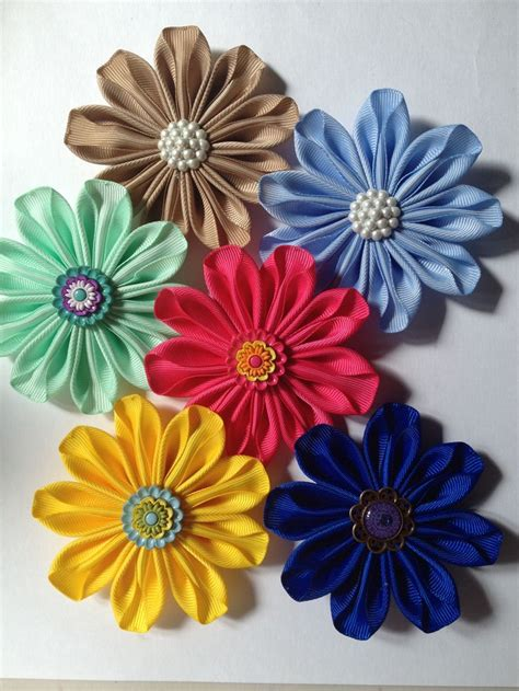 Handmade Ribbon Flowers - ribbon flowers handmade accessories