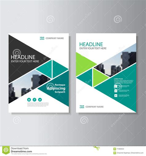 layout design green green triangle vector annual report leaflet brochure flyer