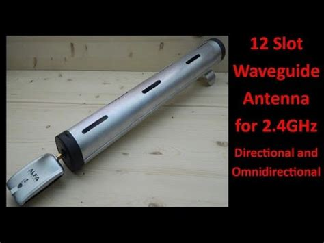 slot waveguide antenna  ghz youtube