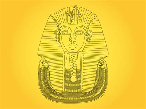 king tut mask template tutankhamun mask vector graphics freevector