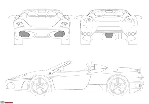 car ferrari drawing blueprints line drawings of cars guess carjpg