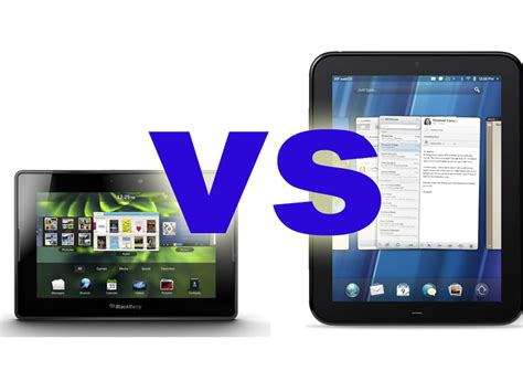 Hp Nokia Blackberry Blackberry Playbook Vs Hp Touchpad Comparisons Your Mobile
