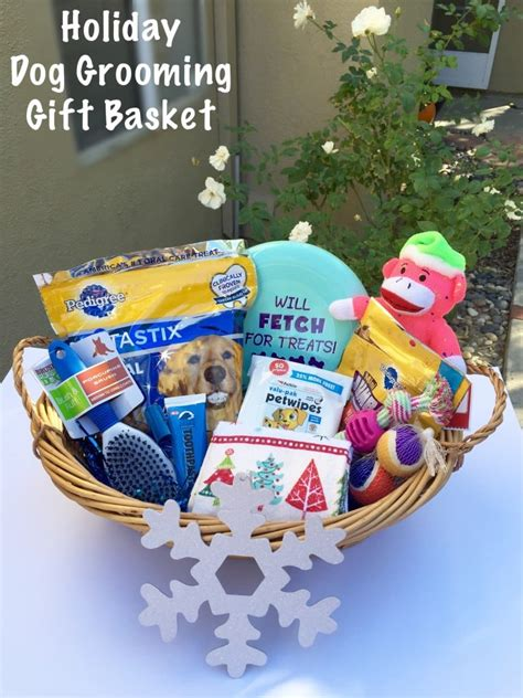 holiday dog grooming gift basket step by step tutorial