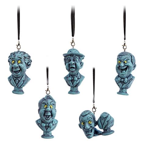 disney christmas ornament set haunted mansion singing