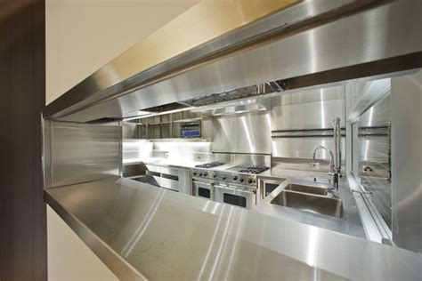 contemporary house with completely stainless steel kitchen