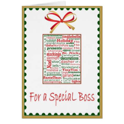 printable christmas cards for a boss christmas for boss cards zazzle