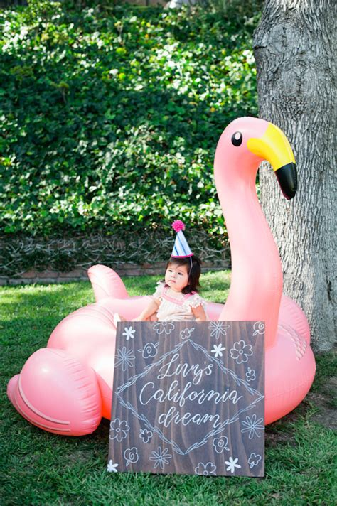 Backyard 1st Birthday Ideas by Boho California Backyard Birthday Plan A